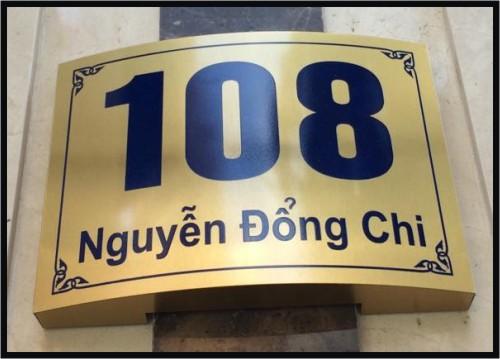 Số Nhà Inox Vàng